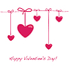 Valentine`s Day card with hearts