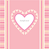 Valentines card with heart | Stock Vector Graphics
