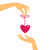 Vector clipart: hand with heart as gift