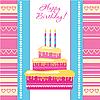 Vector clipart: happy birthday card