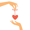 Vector clipart: heart as gift