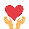 Vector clipart: heart in hands