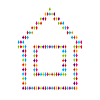 Vector clipart: icon of house for people