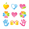 Vector clipart: hearts icons