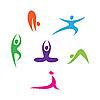 Vector clipart: yoga icons