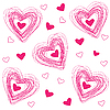 Vector clipart: pattern of hearts