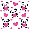 Vector clipart: love pattern with pandas