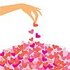Векторный клипарт: лепестки сердечки