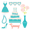 Vector clipart: girl accessories