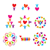 Vector clipart: set of love icons