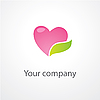 Vector clipart: heart with leaf