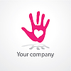 Vector clipart: hand with heart