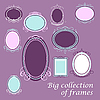 Vector clipart: Big collection frames
