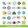 Vector clipart: Big collection icons