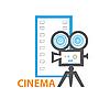 Векторный клипарт: кино