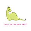 Векторный клипарт: Love в новогодних