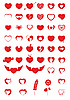 Vector clipart: Heart Icons