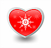 Vector clipart: heart and snowflakes