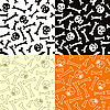 Vector clipart: seamless pattern with skulls and bones