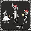 Amüsante Skelette auf Hochzeit | Stock Vektrografik