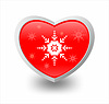 Heart and snowflake | Stock Illustration