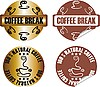 Vector clipart: coffee break stamp set