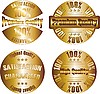 Vector clipart: gold premium quality labels