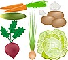 Vector clipart: vegetables set