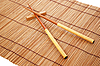 ID 3110685 | Chopsticks on brown bamboo mat | High resolution stock photo | CLIPARTO
