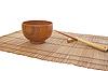 竹席筷子和碗 | 免版税照片