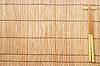 棕色竹垫筷子 | 免版税照片