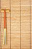 Chopsticks on brown bamboo mat   Stock Foto