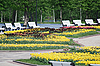 Outdoor - city park in Moscow at the spring and summer   Stock Foto