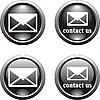 Векторный клипарт: Набор черных иконок для веб-дизайна
