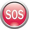 Векторный клипарт: красная иконка - SOS