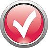 Vector clipart: red icon - check mark