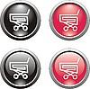Векторный клипарт: иконки корзина для покупок