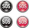 Векторный клипарт: Набор SOS-иконок