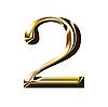 Numer symbol złota | Stock Illustration
