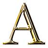 ID 3123172 | Goldenes Alphabet-Symbol - Großbuchstaben | Illustration mit hoher Auflösung | CLIPARTO