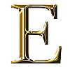 ID 3123178 | Goldenes Alphabet-Symbol - Großbuchstaben | Illustration mit hoher Auflösung | CLIPARTO