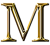 Photo 300 DPI: gold alphabet symbol - uppercase letter