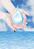 ID 3123216 | Hands holding water drop, environmental protection | High resolution stock photo | CLIPARTO