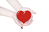 Hands holding heart, love or medical concept  | Stock Foto
