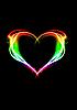 Glowing heart  | Stock Foto
