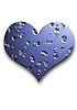 Silver embossed heart  | Stock Foto