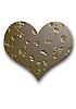 Gold embossed heart | Stock Foto