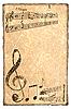 Grunge fondo musical   Foto de stock