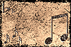 Grunge fondo musical   Ilustración
