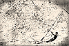 Windsurfista en el papel viejo, fondo grunge   Ilustración